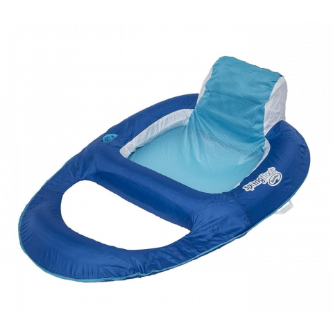 Swimways Spring Float Recliner, Blue