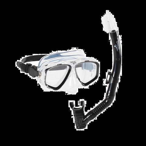 Speedo Adult Recreation Mask and Snorkel, Black