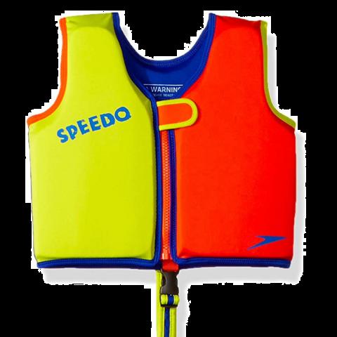 Speedo Classic Swim Vest, Lime/Orange, Large