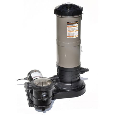 Swimline 40 SQ FT Cartridge Filter System with 1.5 HP Pump