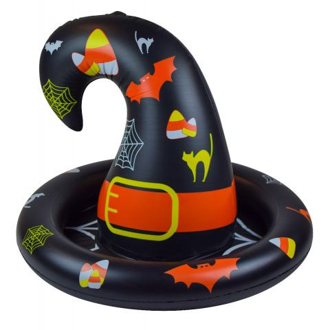 SunSplash Inflatable Floating Halloween Witch Hat